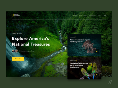 National Geographic Website Redesign Concept redesign national parks wildlife nature national national geographic concept product purrweb design ux ui figma