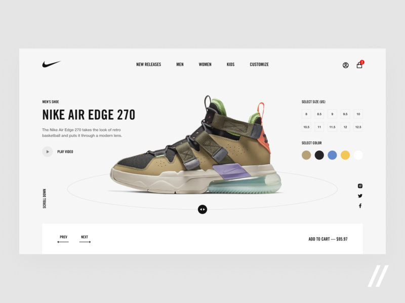 Nike Promo Page Design Concept nike air air kids woman man size promo shoes nike concept product purrweb design ux ui figma