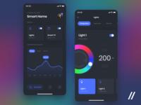 Smart Home App lights smarthome home smart concept product purrweb mobile app design ui ux figma