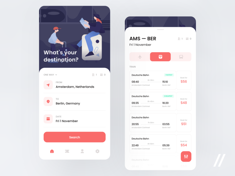 Ticket Aggregator Design Concept vacation travel europe bus tickets ticket concept product purrweb mobile app ux ui figma design