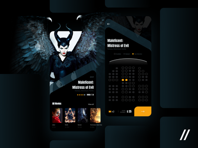 Movie Tickets Online Booking App ticketing app seats movie booking tickets concept product purrweb mobile app ux ui figma design