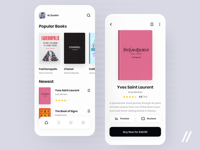 Online Book Store App popular shop online store book product purrweb mobile app ux ui figma design