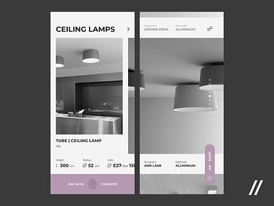 Furniture e-Commerce App Concept online store shop ecommerce interior furniture concept product purrweb mobile app ux ui figma design