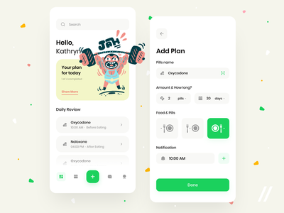 Pill Reminder & Medication Tracking App healthcare notifications pills reminder tracker medication medicine concept product purrweb mobile app figma design ux ui