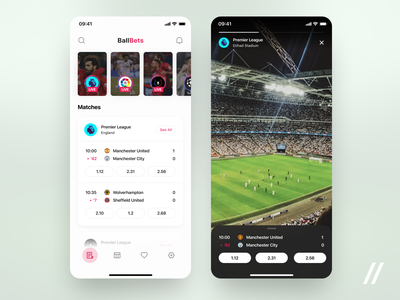 Football Betting App statistics sport dashboad score bookmakers bet betting concept product purrweb figma app mobile design ux ui