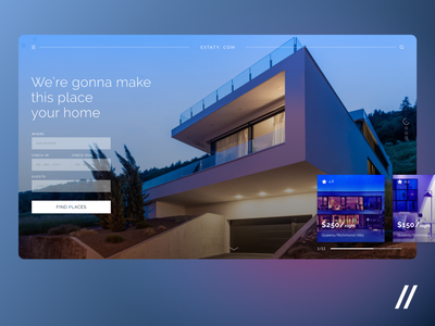 House Renting App accomodation night cost checkin checkout houses renting real estate web website product purrweb figma design ux ui