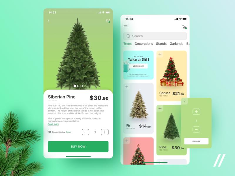 Christmas Tree Shopping App