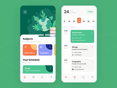 Schedule Management Platform concept product purrweb mobile app ux ui figma design