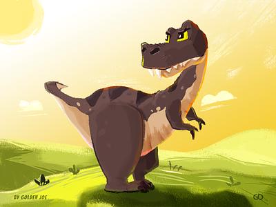 Jurassic World splash dinosaur art ui design illustrator drawing visual branding illustration 标识 商标 color