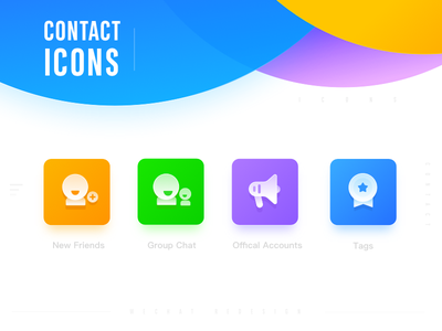 Contact Icon redesign wechat ui tag account friends icon contact