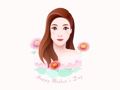 Happy Mother's Day---My Wife people human happy mother flower woman illustration