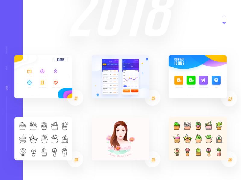 2018 branding ux design flower web card illustration ui color icon