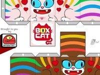 Box Cat-Girl Girl Papercraft