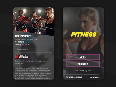 Fitness Mobile Concept