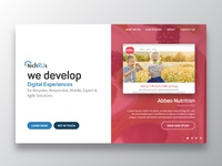 Techrus Web landing Page