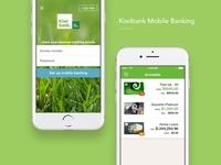 Kiwibank Mobile Banking Design