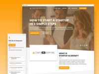 Startup Academy E-Learning Website courses classes payment responsive web video e-learning