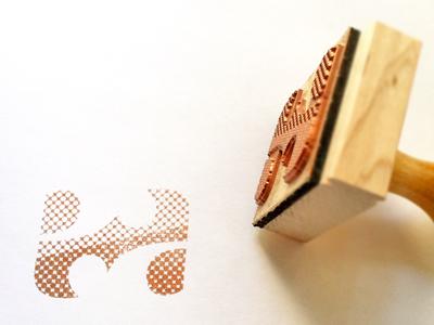"""ea"" Ambigram Stamp stamp ambigram ea simon stamp"