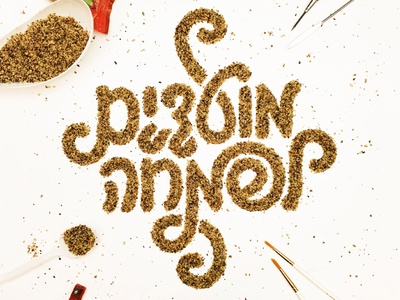 Moadim Lsimha dimensionaltype passover hebrew type lettering