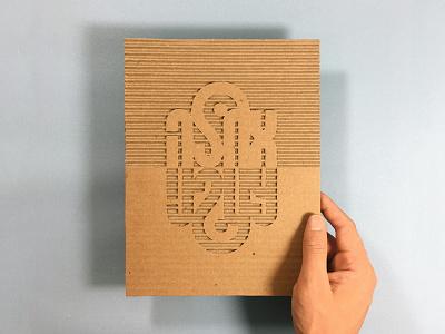 Ahla Bahla instagram dimensionaltype lettering hebrew cardboardtype