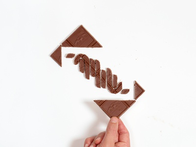Shwayeh Shwayeh ghirardelli 🍫 arabic hebrew food lettering chocolate