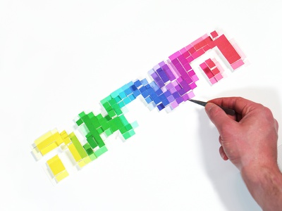 Enonspiration 18 instagram rainbow lettering enon hebrew pixels pixel art inspiration