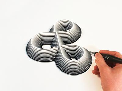 Infinity Ampersand in B&W blackandwhite paprcut ampersand infinity
