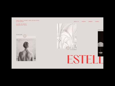 Developer Portfolio minimal minimalist portfolio parallax website webdesign web video ux ui motion interaction design branding animation