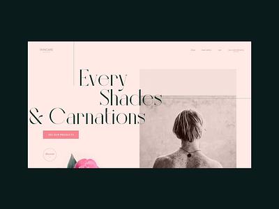 Skincare Landing Page minimalist grid concept website concept minimal skincare website webdesign web video ux ui motion interaction design branding animation