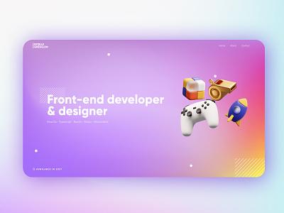New Portfolio Hero Scene parallax interaction animation design branding gradient motion design webdesign designer developer portfolio gaming 3d motion ux ui