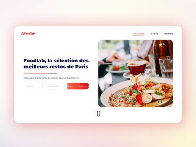Restaurant App parallax webdesign motion interaction animation ux ui design branding