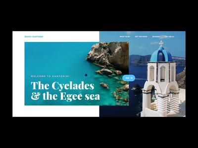 Santorini Landing Page santorini website webdesign web video ux ui parallax motion landing page interaction design branding app animation