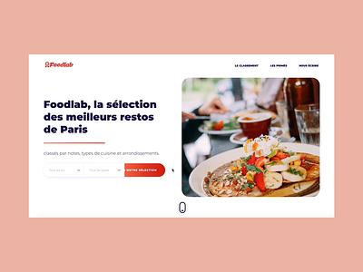Foodlab - Animated Home Page restaurant paris food webapp website webdesign web video ux ui parallax motion interaction design branding app animation