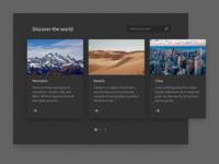 UI Study – Discover the world