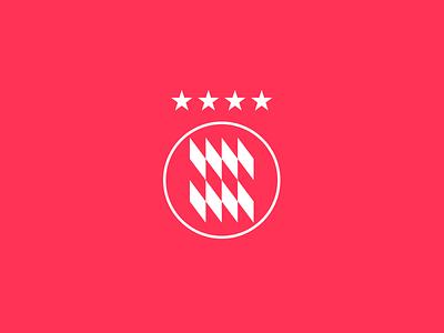 FC Bayern Logo Redesign sport fc munich fcb bayern football branding vector logo design flat minimal