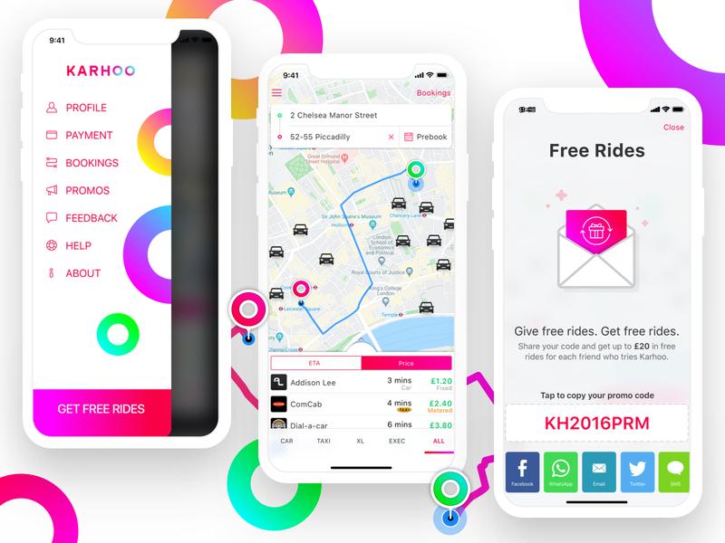 Karhoo - the cab comparison app dribbble brandbook apple android sharing ios mobility shared app comparison cab karhoo