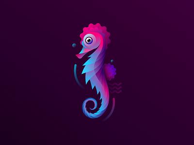 Sea-Horse  seahorse sea animals vector horse illustration fish vector gradient