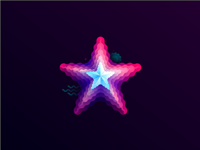 STARFISH gradient starfish illustration vector starfish sea animals starfish vector