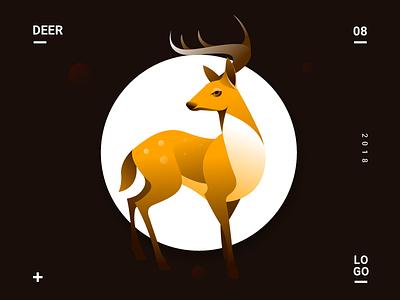 DEER deer vector animal lover animal logo gradient icons animal illustration