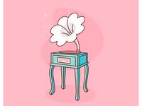 Gramophone + Flower