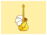 Guitar+Hibiscus