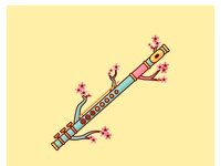 Flute+cherry blossom