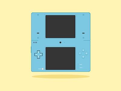 Nintendo DSi nintendo 3ds 3ds gameboy nintendo handheld nds ndsi ds nintendo dsi nintendo ds design handheld nintendo gaming adobe illustrator wacom cintiq flatdesign illustration