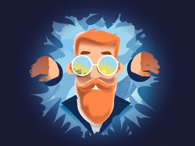 Trippy Adventure frame by frame animation nature old man trippy grain jungle hipster character design illustration procreate texture after effects animation animation