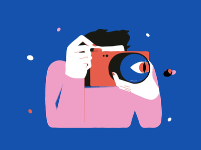 Capture the Moment minimal art minimal clean design abstract after effects framebyframe character design texture motiongraphics motion photo photography animation illustration