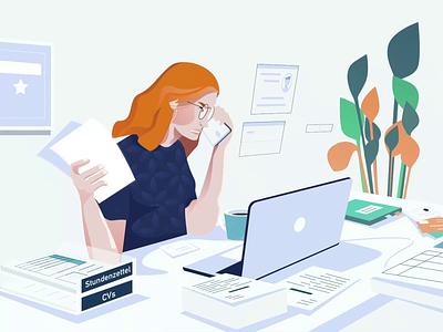 Talent360 Explainer chart talent recruit jobs motion design animation explainer video explainer illustration