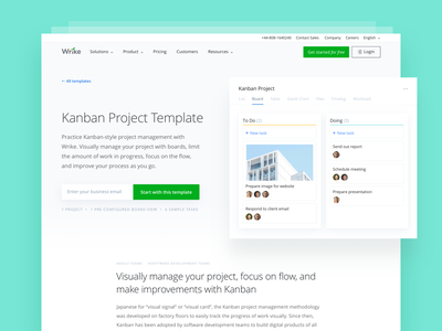 Wrike Templates Gallery — Inner page website template screenshot collaborate landing page web design wrike