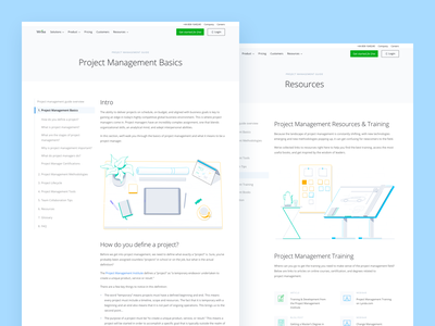 Wrike Project Management Guide guide management project wrike tool collaborate website web landing page ux branding card typography illustration blue ui design clean
