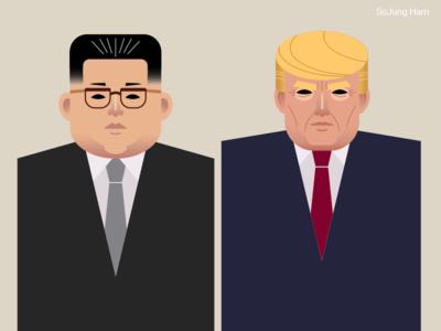 Kim Jong Un and Donald Trump history singapore summit people portrait korea politics america north korea south korea singapore donald trump kim jong un