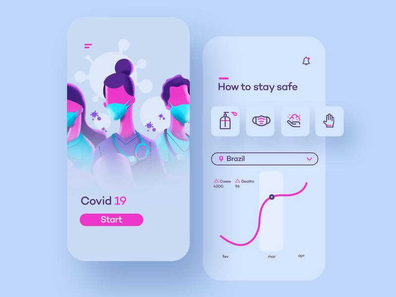 Covid-19 Info app concept